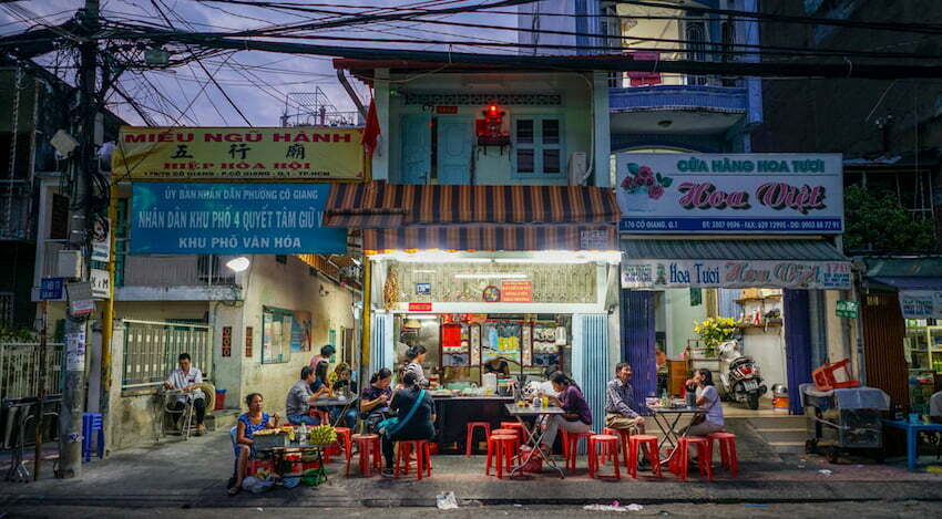 things to do in Ho Chi Minh city at night: Pham Ngu Lao street