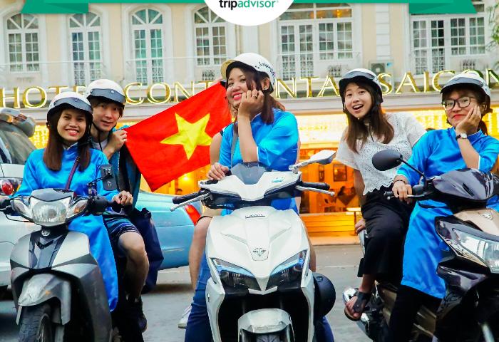 saigon kiss tours motorbike scooter food tour ho chi minh highest review on tripadvisor traveller's choice