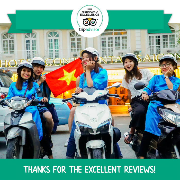 saigon kiss tours motorbike scooter food tour ho chi minh highest review on tripadvisor traveller's choice