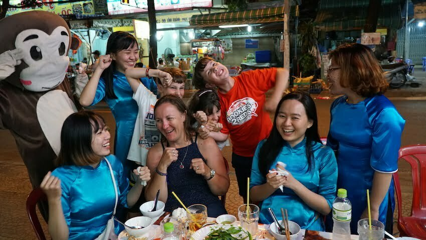 family friendly tour in vietnam scooter moped bike tour ho chi minh city food after dark vespa adventures back of the bikes street food tour traveling with family