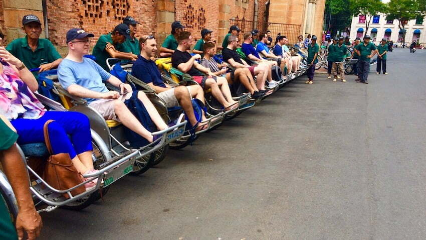 common travel scams in Vietnam with cyclo drivers
