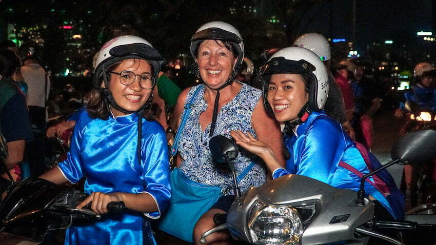 Passionate young tour guides of Saigon Kiss Motorbike Tours
